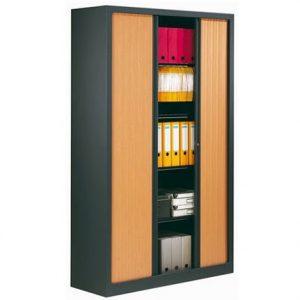 Armoire metallique portes coulissantes ou portes rideaux for Armoire professionnelle bureau