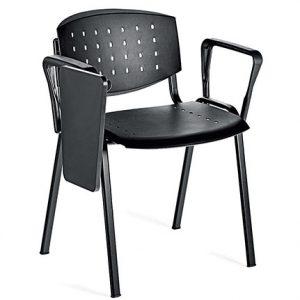 021---Chaise-fixe-LAYER---Avec-tablette-ecritoire- -2-Acc